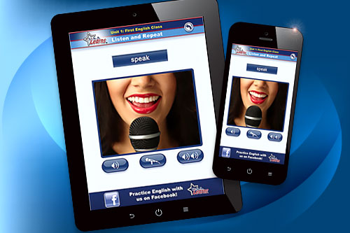 Practice English pronunciation with USA Learns English Apps