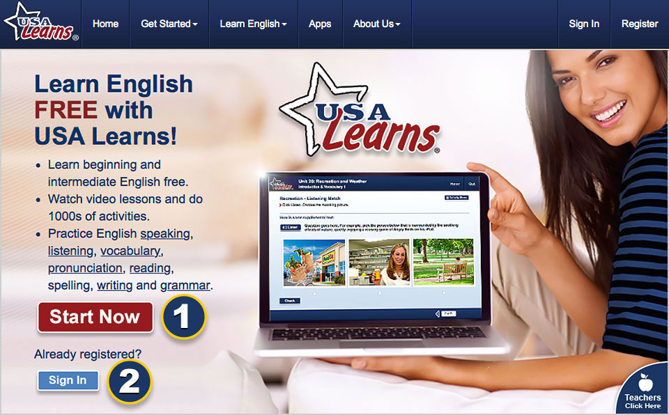 Learning English in the USA